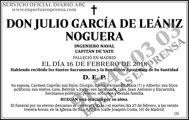 Julio García de Leániz Noguera